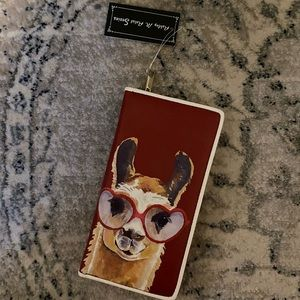 Artsy Llama Wallet - Ashley M Artist Series